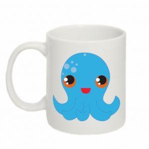 Kubek 330ml Cute jellyfish - PrintSalon
