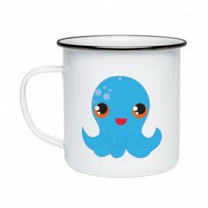 Kubek emaliowane Cute jellyfish - PrintSalon