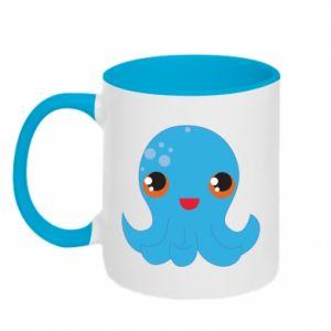 Kubek dwukolorowy Cute jellyfish - PrintSalon
