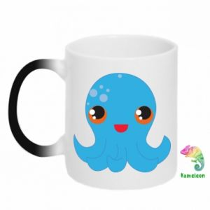 Kubek-kameleon Cute jellyfish - PrintSalon