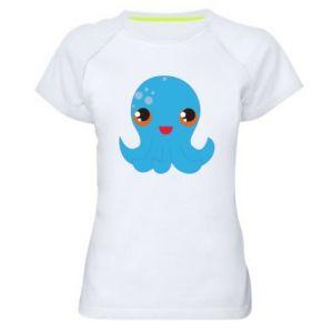 Damska koszulka sportowa Cute jellyfish - PrintSalon