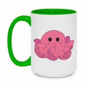 Two-toned mug 450ml Cute octopus