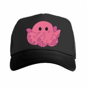 Trucker hat Cute octopus