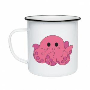 Enameled mug Cute octopus