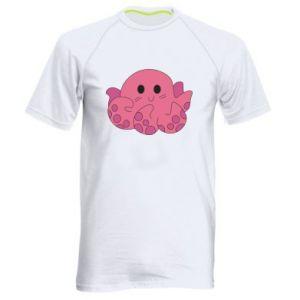 Men's sports t-shirt Cute octopus