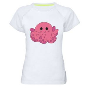 Women's sports t-shirt Cute octopus