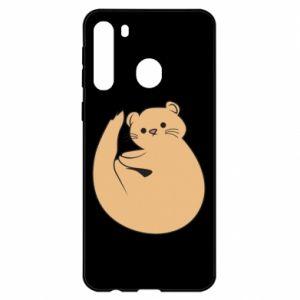 Etui na Samsung A21 Cute otter