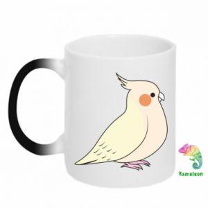 Kubek-magiczny Cute parrot