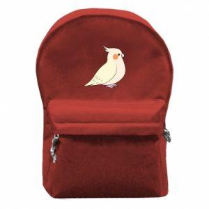 Plecak z przednią kieszenią Cute parrot