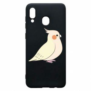 Etui na Samsung A20 Cute parrot