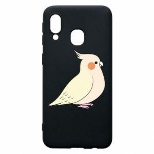 Etui na Samsung A40 Cute parrot