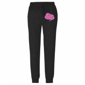 Męskie spodnie lekkie Cute pink snake - PrintSalon