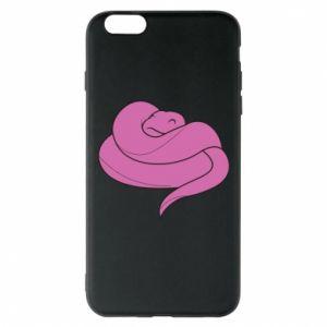 Phone case for iPhone 6 Plus/6S Plus Cute pink snake - PrintSalon