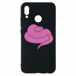 Phone case for Huawei P20 Lite Cute pink snake - PrintSalon