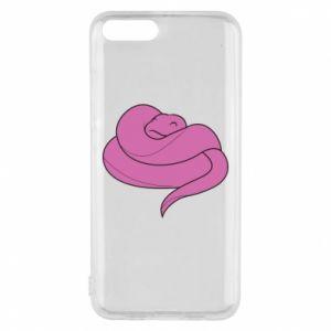 Phone case for Xiaomi Mi6 Cute pink snake - PrintSalon