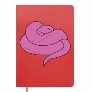 Notepad Cute pink snake - PrintSalon