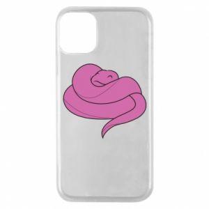 Phone case for iPhone 11 Pro Cute pink snake - PrintSalon