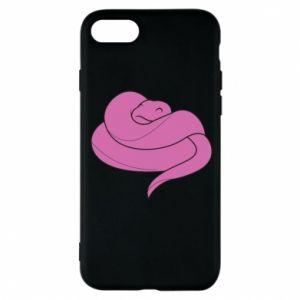 Phone case for iPhone 8 Cute pink snake - PrintSalon