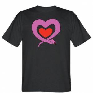 T-shirt Cute snake heart