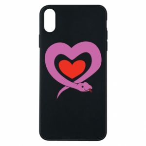 Phone case for iPhone Xs Max Cute snake heart - PrintSalon