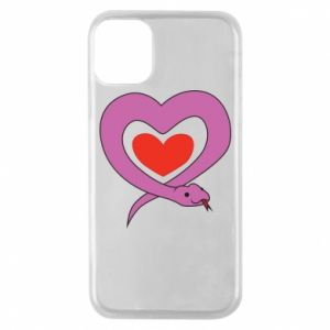 Phone case for iPhone 11 Pro Cute snake heart - PrintSalon