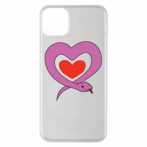Phone case for iPhone 11 Pro Max Cute snake heart - PrintSalon