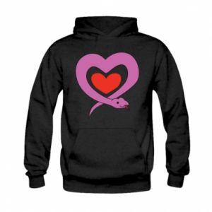 Bluza z kapturem dziecięca Cute snake heart