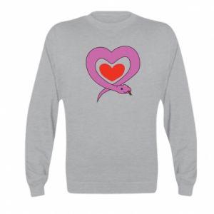 Bluza dziecięca Cute snake heart