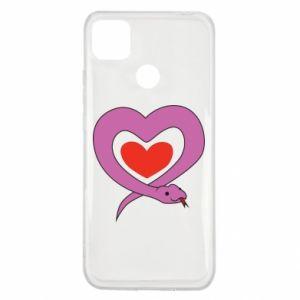 Etui na Xiaomi Redmi 9c Cute snake heart
