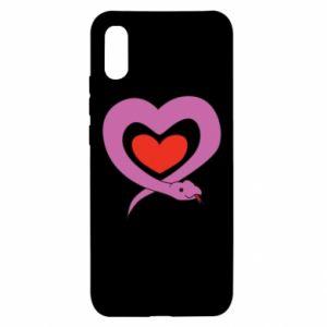 Etui na Xiaomi Redmi 9a Cute snake heart
