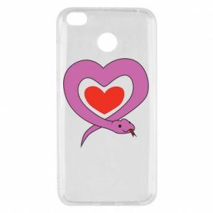 Etui na Xiaomi Redmi 4X Cute snake heart