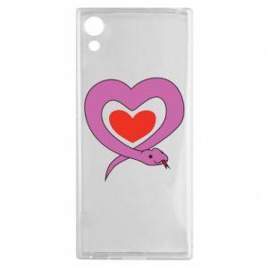 Etui na Sony Xperia XA1 Cute snake heart