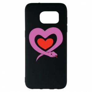 Etui na Samsung S7 EDGE Cute snake heart