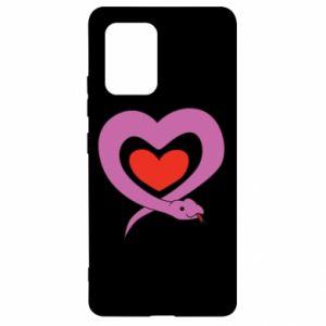 Etui na Samsung S10 Lite Cute snake heart