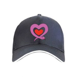 Cap Cute snake heart - PrintSalon