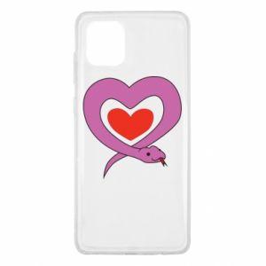 Etui na Samsung Note 10 Lite Cute snake heart