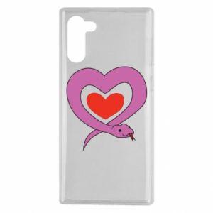 Etui na Samsung Note 10 Cute snake heart