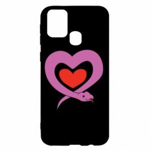 Etui na Samsung M31 Cute snake heart
