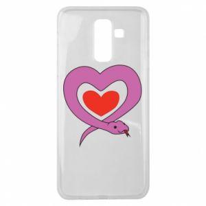 Etui na Samsung J8 2018 Cute snake heart