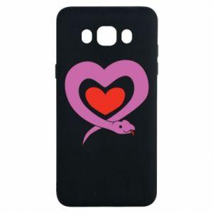 Etui na Samsung J7 2016 Cute snake heart