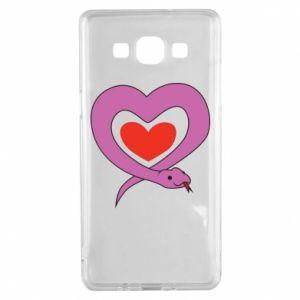 Etui na Samsung A5 2015 Cute snake heart