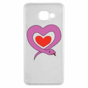 Etui na Samsung A3 2016 Cute snake heart