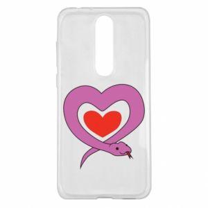Etui na Nokia 5.1 Plus Cute snake heart