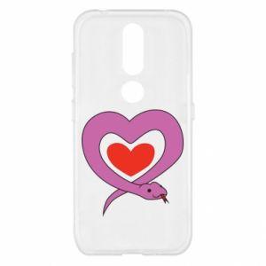 Etui na Nokia 4.2 Cute snake heart