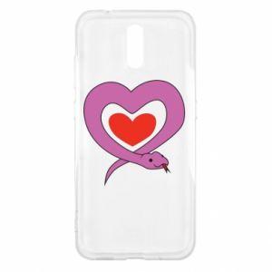 Etui na Nokia 2.3 Cute snake heart