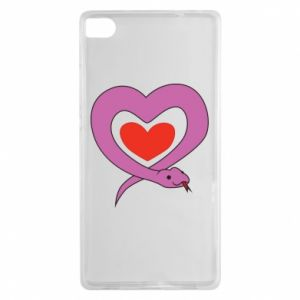 Etui na Huawei P8 Cute snake heart