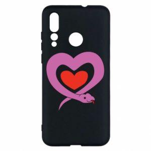 Etui na Huawei Nova 4 Cute snake heart