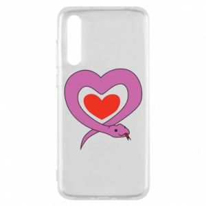 Etui na Huawei P20 Pro Cute snake heart
