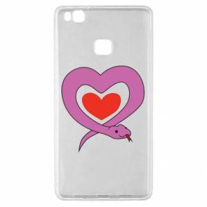 Etui na Huawei P9 Lite Cute snake heart