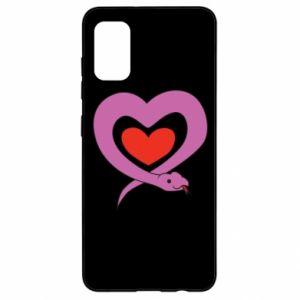 Etui na Samsung A41 Cute snake heart